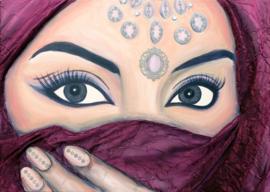 Schilderij Burka Eyes (Glamourous)