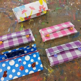 Kinderfeestje portemonnee maken