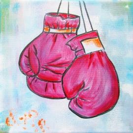 Schilderij Boxhandschoenen