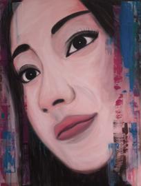 Schilderij Close Up Vietnamese vrouw