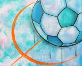 Schilderij Voetbal