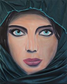 Schilderij Pakistaanse Vrouw