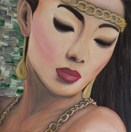 Schilderij Koreaanse Vrouw
