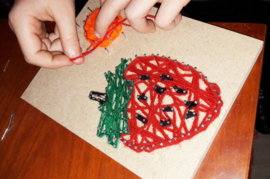Kinderfeestje Draadfiguren met Spijkers