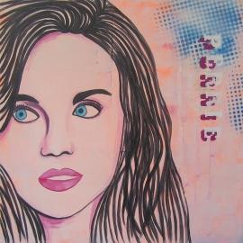 Portret Schilderij Perrie, Little Mix
