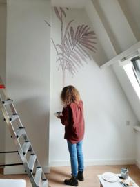 Muurschildering tienerkamer