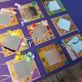 Kinderfeestje spiegels maken