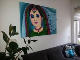Schilderij Indiase vrouw