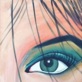Schilderij Italian Girl