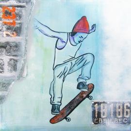Schilderij Skater