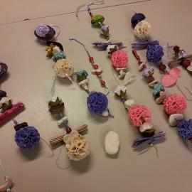 Kinderfeestje zeepkettingen maken