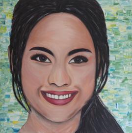 Schilderij Thaise Vrouw