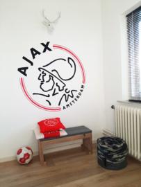 Muurschildering logo Ajax