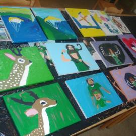 Kinderfeestje Schilderen op doek