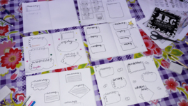 Kinderfeestje Bullet Journal - Handlettering