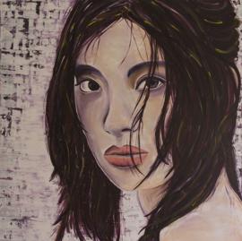 Schilderij Aziatische Vrouw