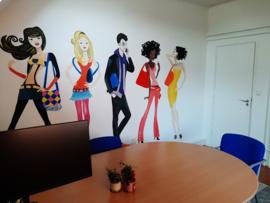 Muurschilderingen kantoorruimte voor TCI