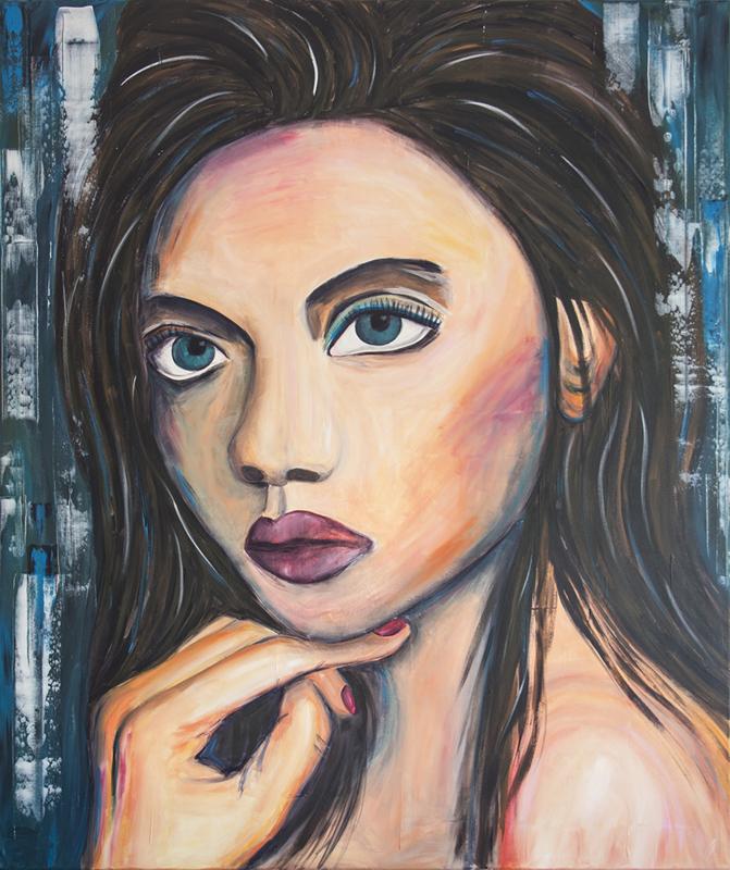 Schilderij Woman from Israel