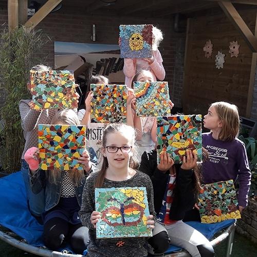 Kinderfeestje mozaiek