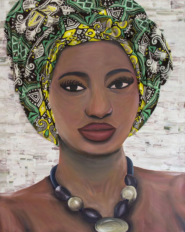 Schilderij Vrouw uit Afrika