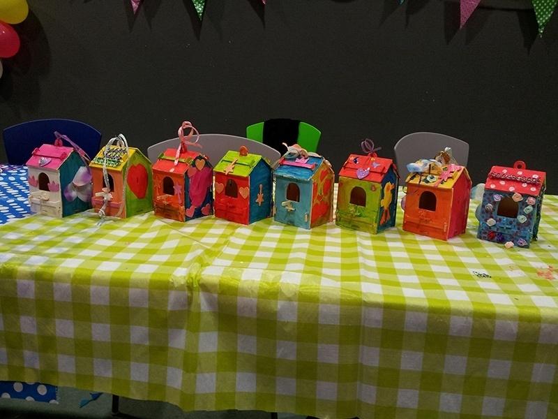 Verwonderlijk Kinderfeestje vogelhuisjes maken   KINDERFEESTJES   Nicole KidsArt UF-89