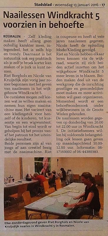 Stadsblad, Januari 2016