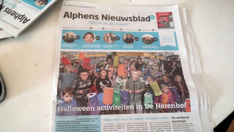 Alphens Nieuwsblad, oktober 2017