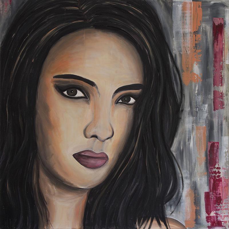 Schilderij Peruaanse vrouw