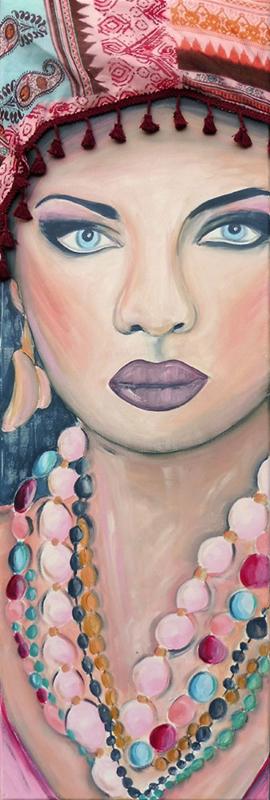 Schilderij Ibiza Girl