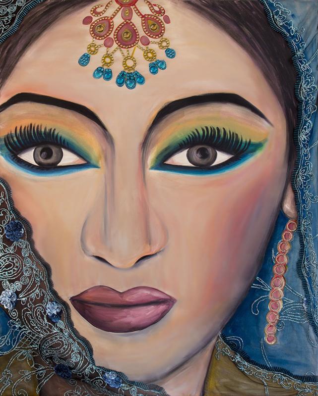 Schilderij Indiase Glamour bruid