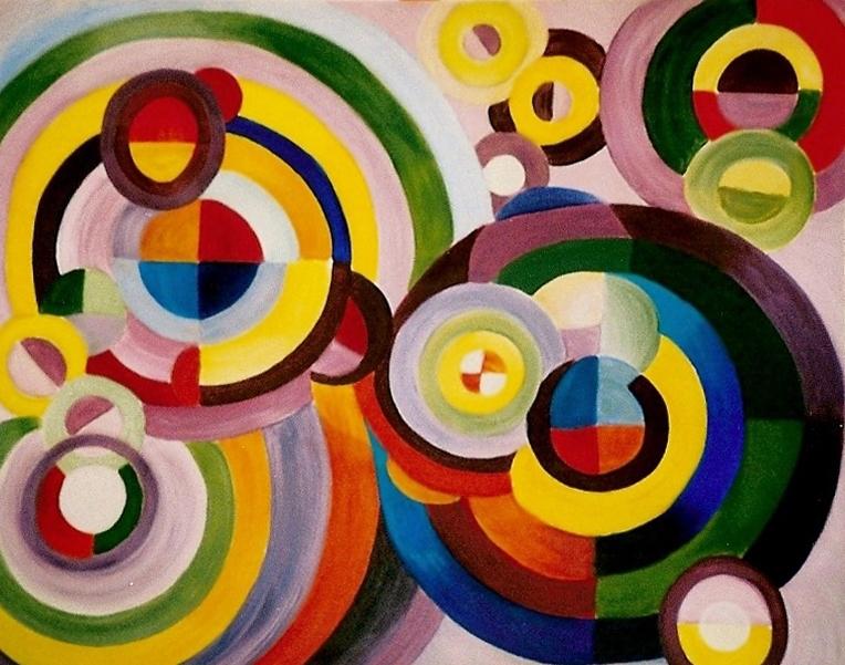 Schilderij Cirkels in vele kleuren