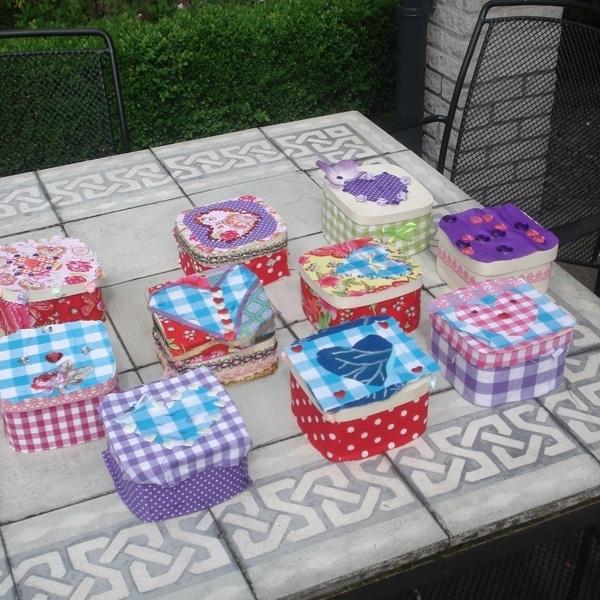 Kinderfeestje sieradendoosje + sieraden maken
