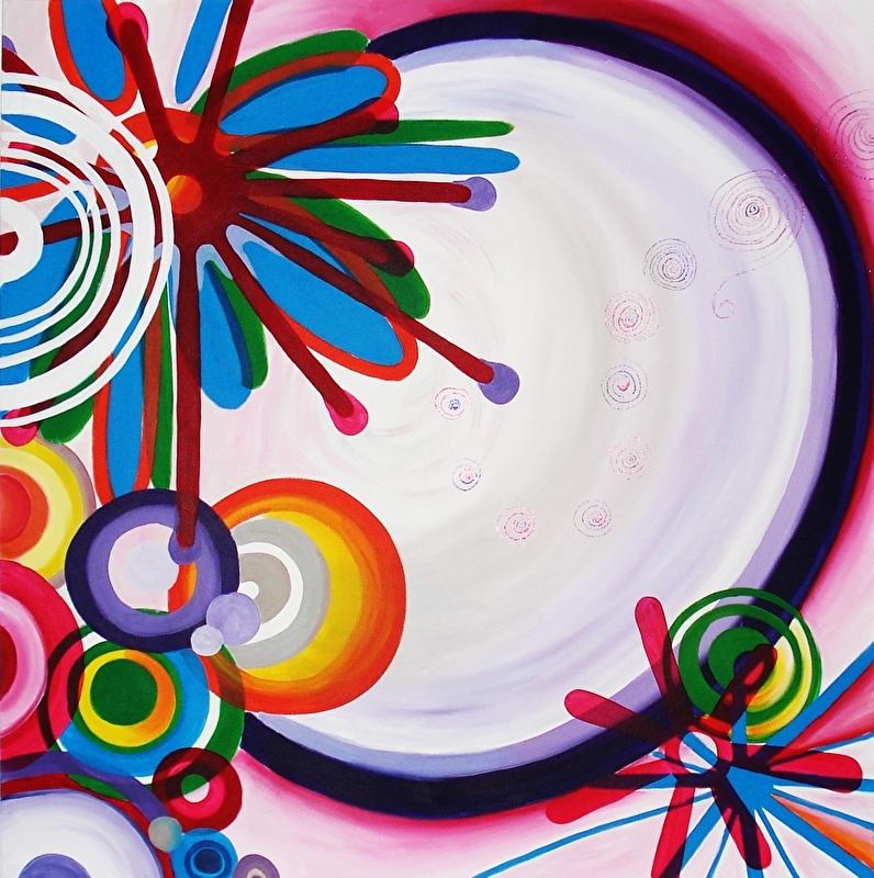 Schilderij met Cirkels
