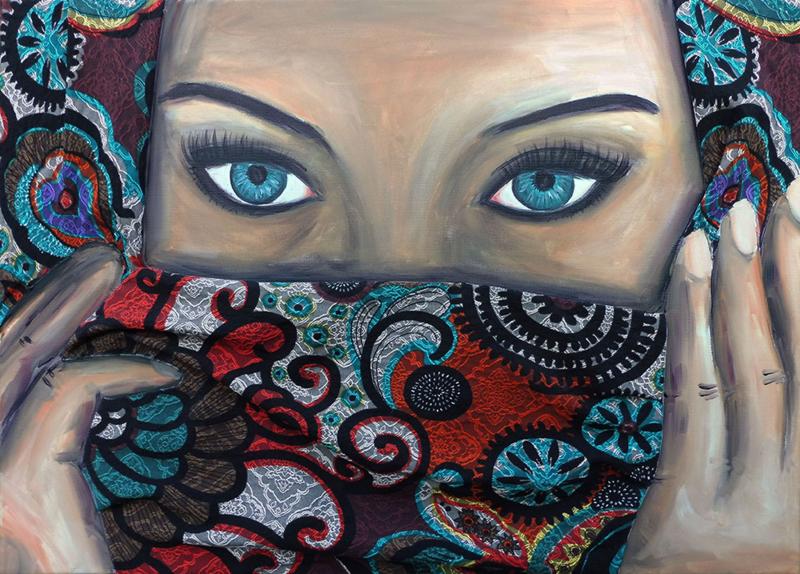 Schilderij Burka Eyes (Poor)
