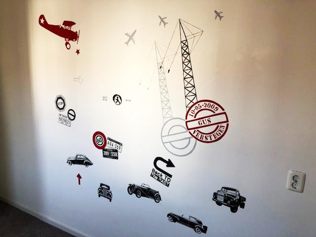 Muurschildering voertuigen en auto's