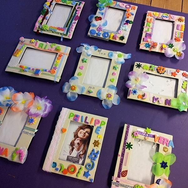 Kinderfeestje fotolijstjes maken