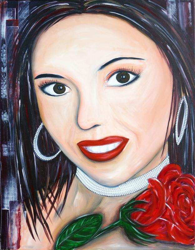Schilderij Spanish Girl
