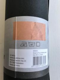 Faux Leather Paper zwart