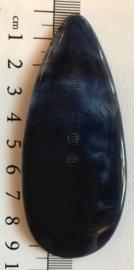 Donkerblauwe grote knoop