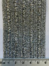 Elastiek zilverkleurig breed 6cm