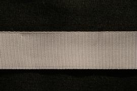 Grosgrain band 25 mm in zilvergrijs