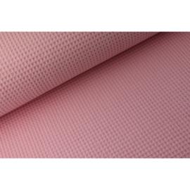 Wafelstof baby roze