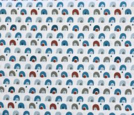 Regenboog brique /blauw