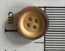 Hout knoopje 1 cm