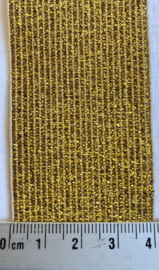Elastiek goudkleurig 4 cm