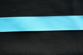 Grosgrain band 25 mm in aqua blauw