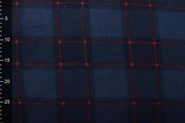 Jogging teddy  ruit rood blauw