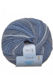 Acrylmix jeansblauw/grijs