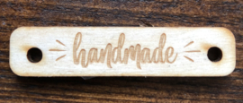 Houten label Handmade