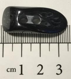 Zwarte knebel 3,5 cm